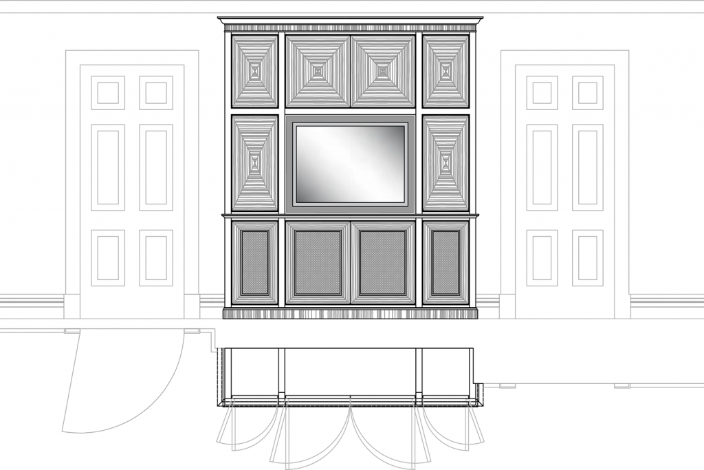 Fitted Audio Visual Cabinet[4931]